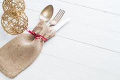 Table with cutlery Stock Images