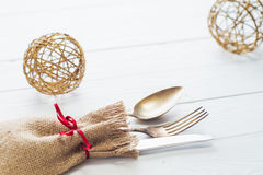 Table with cutlery Royalty Free Stock Photography