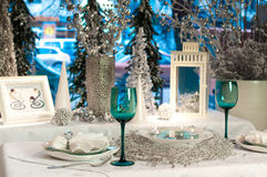 Table décorée Photos libres de droits