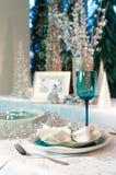 Table décorée Photographie stock libre de droits