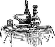Table décorée Image libre de droits