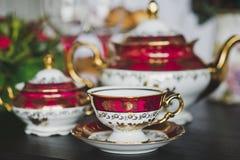 Table décorée pour des thés images libres de droits