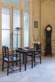 Table d'échecs en villa privée La Havane Photo libre de droits
