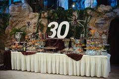 Table d'anniversaire Photo libre de droits