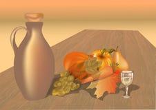 Table d'automne avec des fruits Photo libre de droits