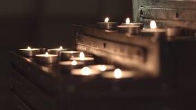 Table d'?glise pour des bougies clips vidéos