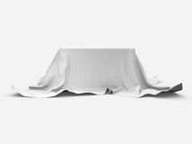 The table 3d render on white background Royalty Free Stock Photos