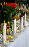 Table de banquet Photographie stock