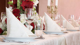 Table de banquet Images stock