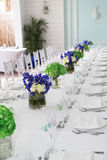 Table de banquet photo stock