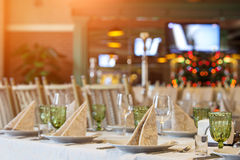 Table de banquet Photographie stock libre de droits