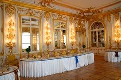 Table de banquet dans le réfectoire Images stock