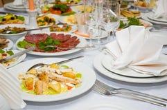 Table de banquet de luxe Image stock