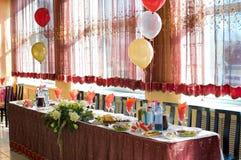 Table de banquet de mariage images stock