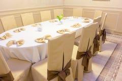 Table de banquet ovale Image stock