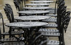 Table de Bistros Photographie stock libre de droits