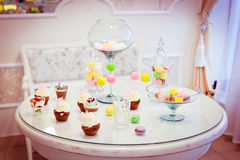 Table de bonbons Photographie stock