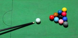 Table de boules de billards images stock