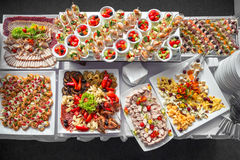Table de buffet d'entreprise Photographie stock