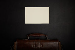 Table de bureau avec des accessoires Photographie stock