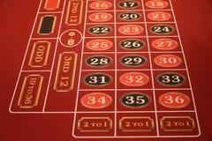 Table de casino sur un bateau de croisière Photographie stock