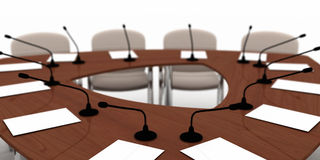 table de conférence Image stock
