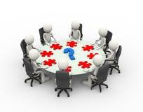 table de conférence de réunion d'affaires des personnes 3d Image libre de droits