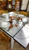 Table de cuisine démodée Photographie stock