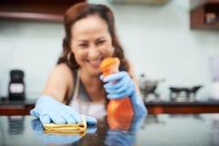 Table de cuisine de nettoyage photos libres de droits