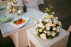 Table de décor de mariage Photographie stock