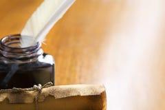 table de défilement de cannette de crayon lecteur en bois Photos libres de droits