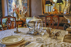 Table de dîner élégante Images libres de droits