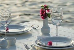 Table de dîner Photos stock