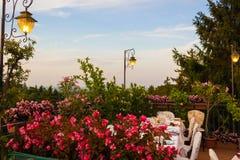 Table de dîner dans le restaurant italien Photo libre de droits