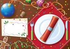Table de dîner de Noël Photographie stock libre de droits