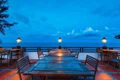 Table de dîner extérieure Photos libres de droits