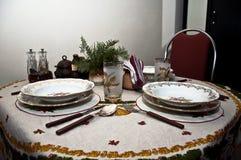 Table de dîner formelle Photographie stock