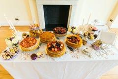 Table de dessert Photographie stock
