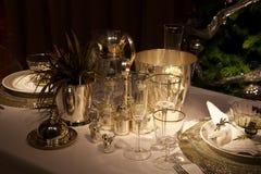 Table de dîner de restaurant Image stock