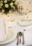 Table de dîner élégante Photos stock