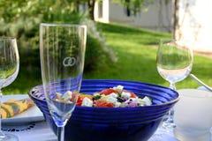 Table de fête avec de la salade image libre de droits