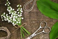 Table de fleuriste Photographie stock