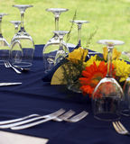 Table de groupe dans le restaurant image stock