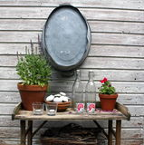 Table de jardin Photos stock