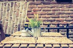 Table de jardin dans la ville photos stock