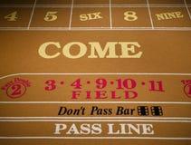 Table de jeu dans un casino Photographie stock
