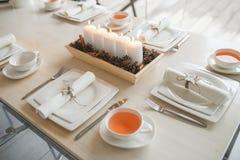 Table de luxe de vacances Photo stock