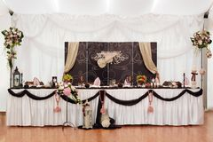 Table de marié et de mariée Image libre de droits