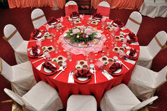 Table de mariage Images stock