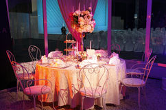 Table de mariage Photo libre de droits